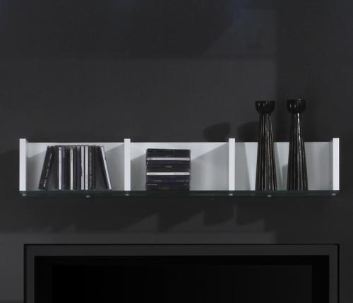 funktionsregal cd regal hochglanz wei b cherregal wandboard wandpaneel paneel ebay. Black Bedroom Furniture Sets. Home Design Ideas