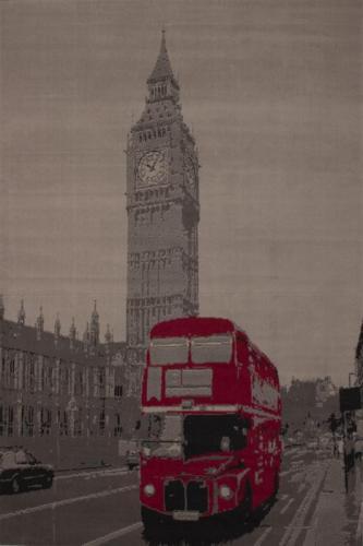 NEU Motiv Teppich 190x280cm London Big Ben