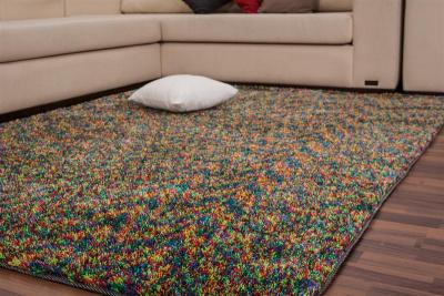 wow design shaggy teppich 80x150cm in bunt hochflor webteppich hochflorteppich ebay. Black Bedroom Furniture Sets. Home Design Ideas
