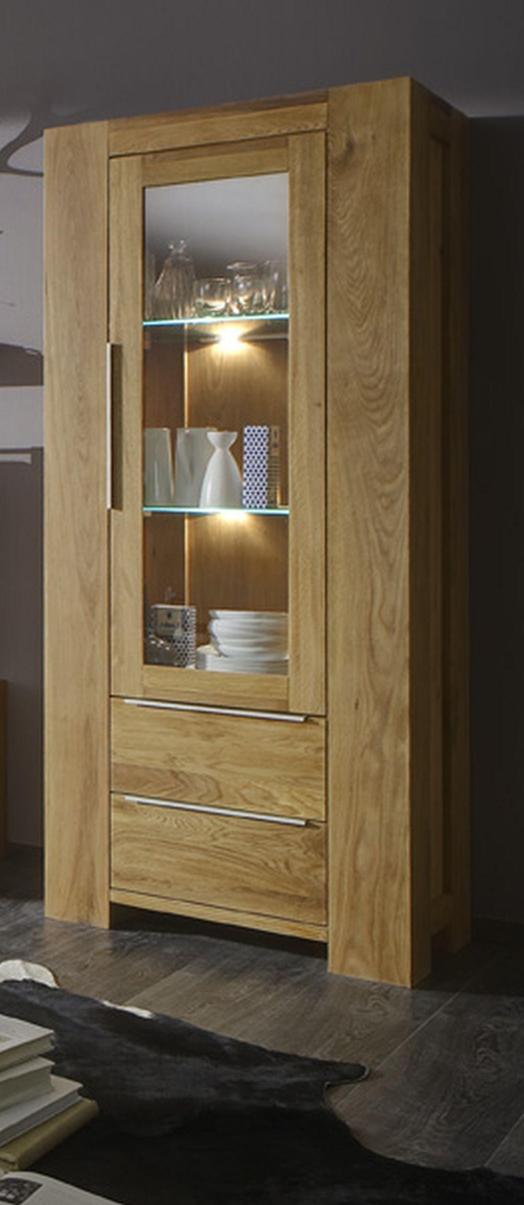 vitrine wildeiche massiv ge lt standvitrine. Black Bedroom Furniture Sets. Home Design Ideas