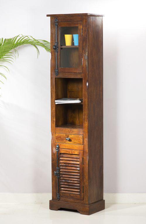 hochschrank mango massiv braun wohnzimmer highboard. Black Bedroom Furniture Sets. Home Design Ideas