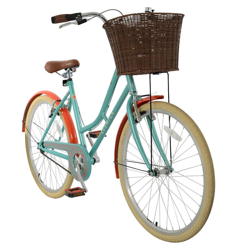 elswick kinder damen infinity heritage bike gr n orange. Black Bedroom Furniture Sets. Home Design Ideas