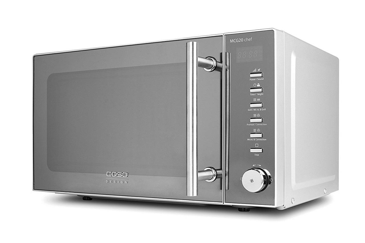caso mcg20 chef design mikrowelle 3 in 1 800 w 20 l h ndler d16053 ebay. Black Bedroom Furniture Sets. Home Design Ideas
