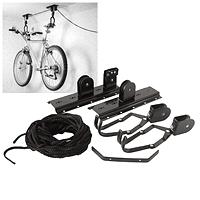 fahrrad wand aufh ngung lift seilzug fahrradhalter fahrrad halter fahrradlift ebay. Black Bedroom Furniture Sets. Home Design Ideas