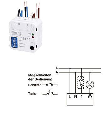 multifunktions relais zeitschalter cs3 16 zeitsteuerung zeitschaltung ebay. Black Bedroom Furniture Sets. Home Design Ideas