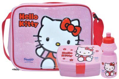 hello kitty brotzeit set trinkflasche brotdose brot dose box butterbrot tasche ebay. Black Bedroom Furniture Sets. Home Design Ideas