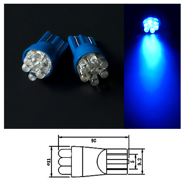 2st ck licht 7 led t10 xenon blue blau 12v innen beleuchtung f r skoda octavia ebay. Black Bedroom Furniture Sets. Home Design Ideas
