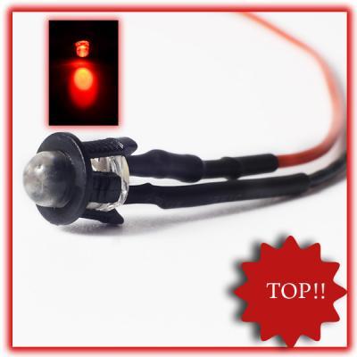 10Stueck-5mm-LED-fertig-Verkabelt-Rot-LEDs-Rote-12V-anschlussfertig