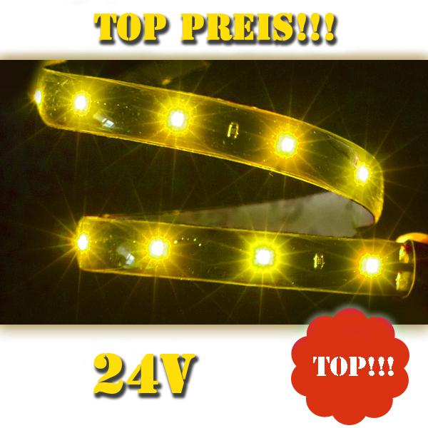 24 volt gelb lichtleiste innenraum lkw smd led strip ebay