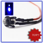 10 x 5mm LED Verkabelt Blau LEDs blaue 12V