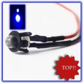 10Stück 5mm LED fertig Verkabelt Blau LEDs blaue 12V anschlussfertig