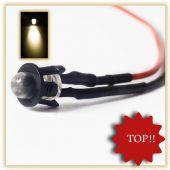 10Stück 5mm LED fertig Verkabelt Warm Weiss LEDs  12V anschlussfertig