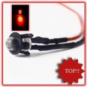 5Stück 5mm LED Verkabelt Rot LEDs Rote 12V