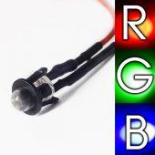 5Stück 5mm LED Verkabelt RGB LEDs schnelle und blinkende farbwechsel12V
