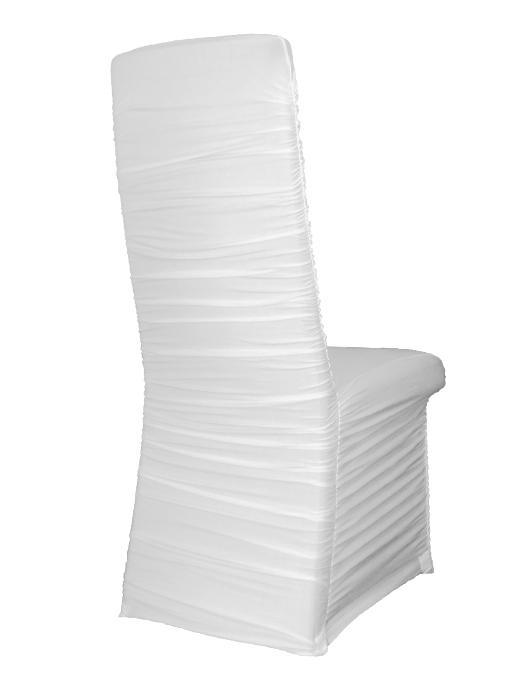 stuhlhussen stretch gerafft weiss stuhl berwurf stuhlbezug universell hochzeit. Black Bedroom Furniture Sets. Home Design Ideas