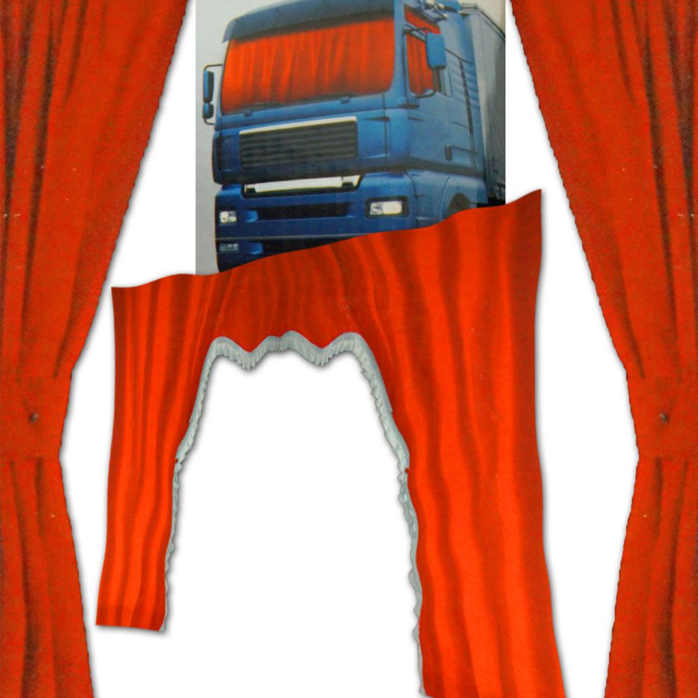 lkw gardinen set samt optik rot velvet man tga fenster. Black Bedroom Furniture Sets. Home Design Ideas