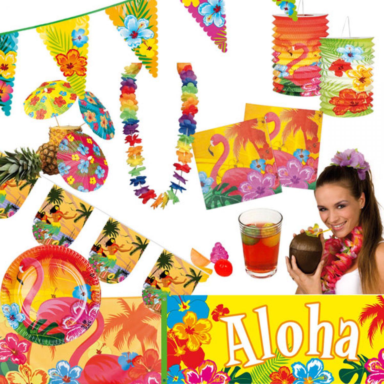hawaii decoración de aloha cadena banderillas bandera