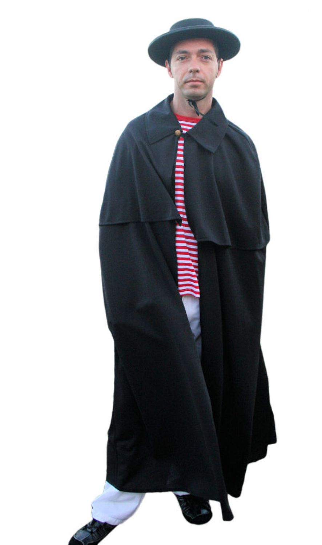 schwarzer umhang kutscher mantel faschingskost m f r. Black Bedroom Furniture Sets. Home Design Ideas