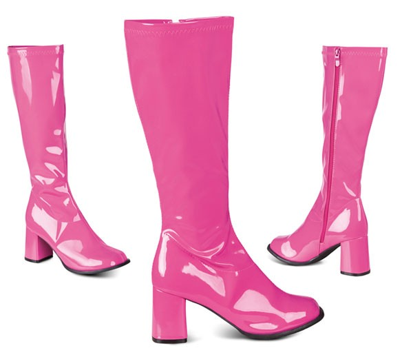 retro stiefel rosa damenstiefel 70er jahre look 39 ebay. Black Bedroom Furniture Sets. Home Design Ideas