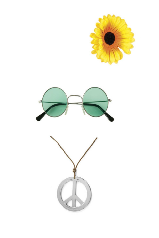 60er 70er jahre accessoires hippie set damen m dels blumenm dchen flower power ebay. Black Bedroom Furniture Sets. Home Design Ideas