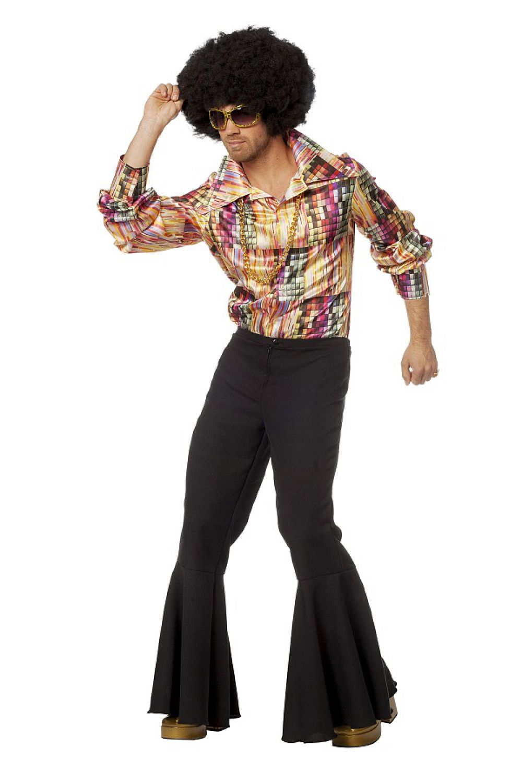 70er jahre disco outfit herren hemd schlager hippie kost m. Black Bedroom Furniture Sets. Home Design Ideas
