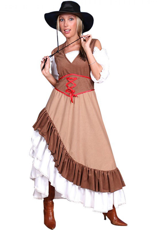 cowgirl kost m western kleid f r damen saloon cowboy damen. Black Bedroom Furniture Sets. Home Design Ideas