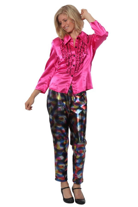 damen leggings bunt 70er 80er jahre hose kost m leggins schlagerparty kost me ebay. Black Bedroom Furniture Sets. Home Design Ideas