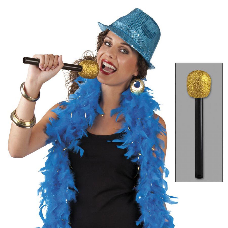 mikrofon attrappe gold schlagerparty zubeh r deko schlager. Black Bedroom Furniture Sets. Home Design Ideas