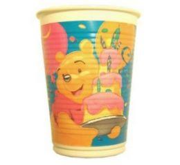 Winnie the Pooh Plastikbecher Party Kinder 4246