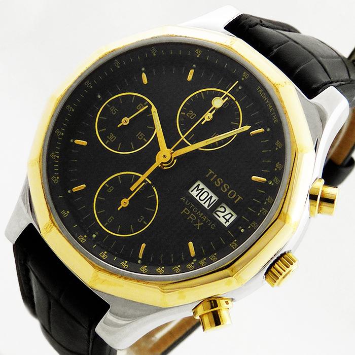 tissot prx automatik chronograph day date eta valjoux 7750 herren uhr saphir ebay. Black Bedroom Furniture Sets. Home Design Ideas