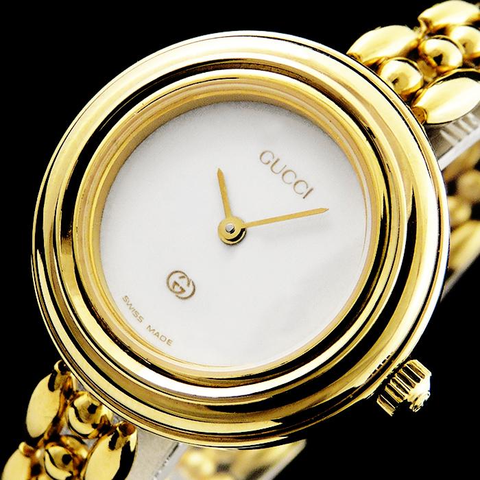 gucci swiss made luxus gold design damen quarz uhr 11 12. Black Bedroom Furniture Sets. Home Design Ideas