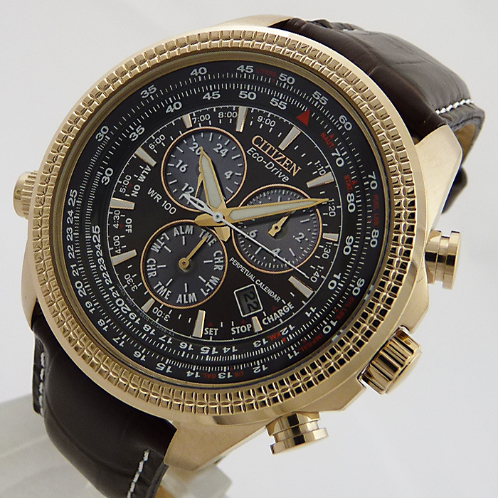 xxl citizen eco drive flieger alarm chronograph herren. Black Bedroom Furniture Sets. Home Design Ideas
