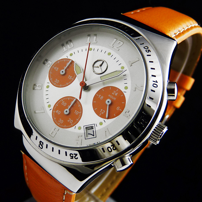 mercedes benz drivers line orange sport chronograph herren. Black Bedroom Furniture Sets. Home Design Ideas