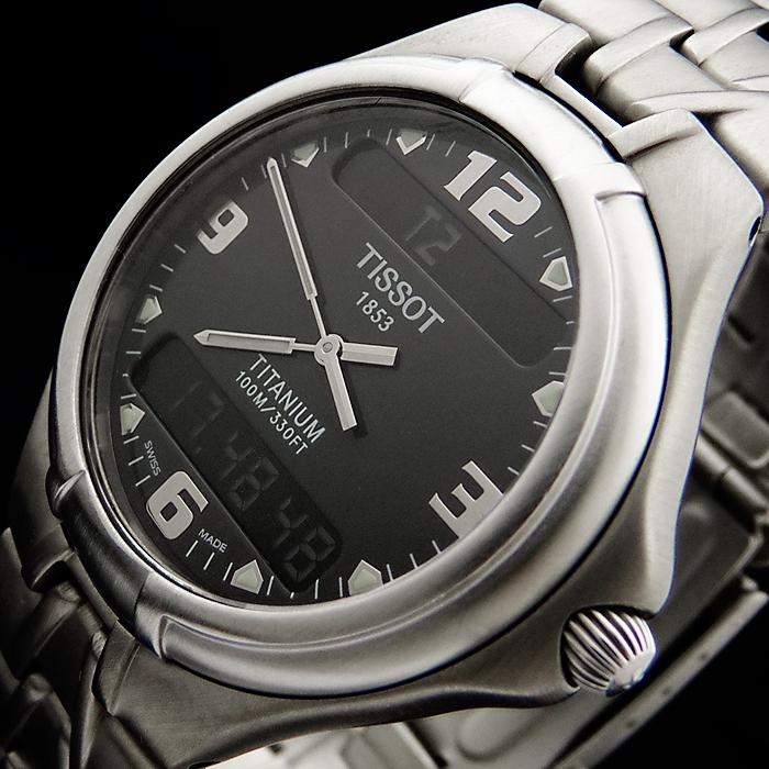 tissot titanium gmt alarm chronograph herren uhr t690k day date saphirglas ebay. Black Bedroom Furniture Sets. Home Design Ideas