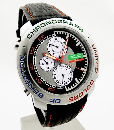 United colors of benetton by bulova multi chronograph herren uhr bn103 24h ebay for Benetton watches