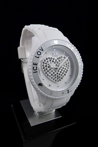 ice watch ice love white medium damen uhr swarovski. Black Bedroom Furniture Sets. Home Design Ideas