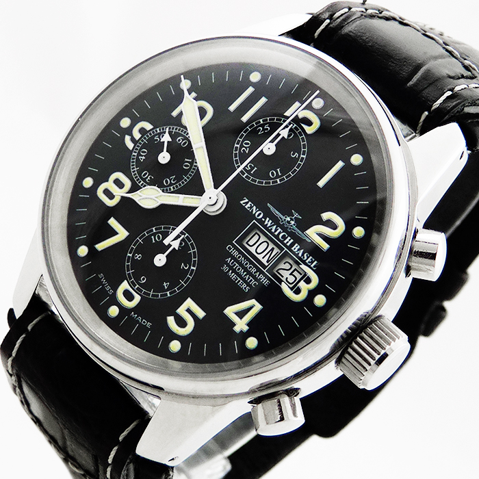 zeno watch basel classic pilot 6557 flieger automatik. Black Bedroom Furniture Sets. Home Design Ideas