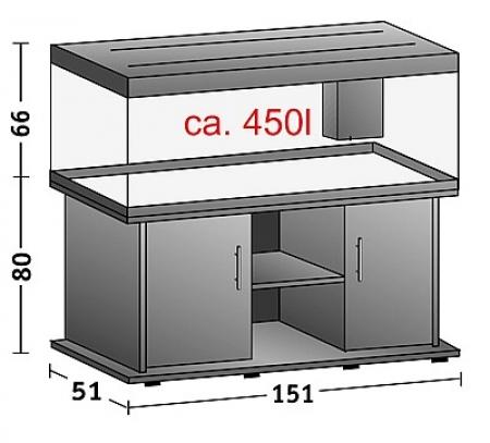 juwel rio 400 buche aquarium abdeckung 450 liter ebay. Black Bedroom Furniture Sets. Home Design Ideas