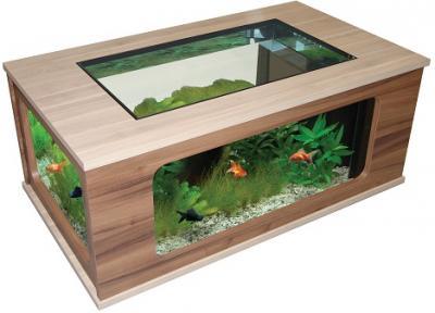 Aquatable 130 weng ch ne clair aquarium comme salon table ebay - Table salon aquarium ...