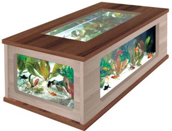 aquatable 130 nu baum eiche creme aquarium als wohnzimmertisch ebay. Black Bedroom Furniture Sets. Home Design Ideas