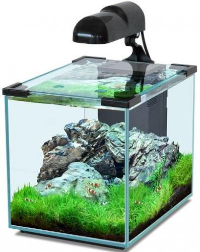 Aquatlantis nano cubic nano aquarium with led 20 30 40 liter for Aquarium 20 litres