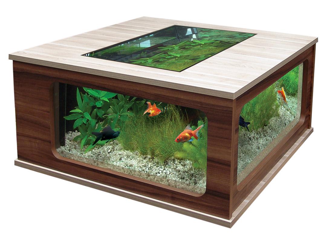 Aquatlantis Aquatable 100 X 100 Quadtratisches Wohnzimmertisch Aquarium