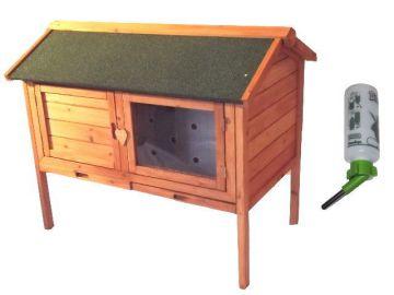 hasenstall kaninchenstall kleintierk fig aus holz ca 98x64x85cm trinkfkasche ebay. Black Bedroom Furniture Sets. Home Design Ideas