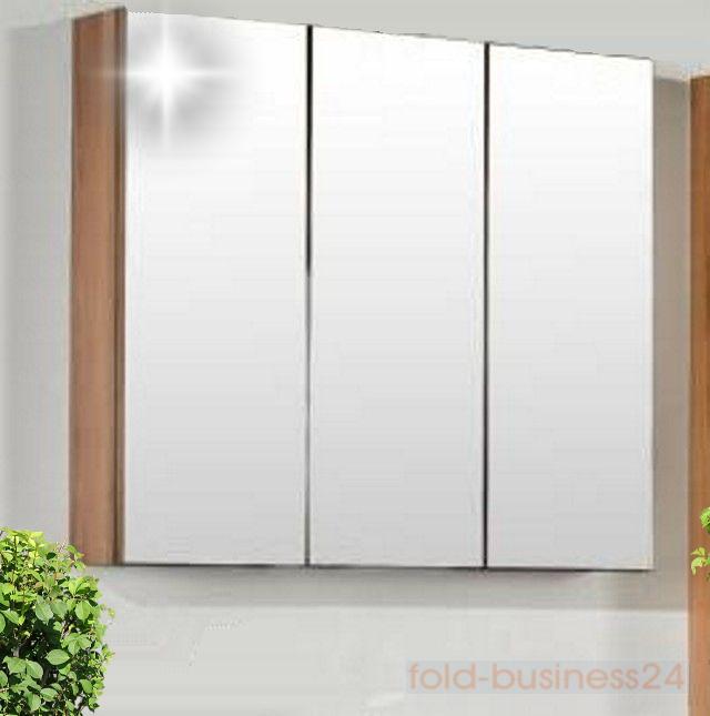 Dreitüriger Spiegelschrank mit doppelt verspiegelten Türen Tiefe