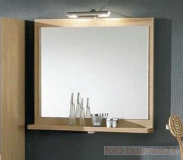 spiegelschrank mit licht und ablage. Black Bedroom Furniture Sets. Home Design Ideas
