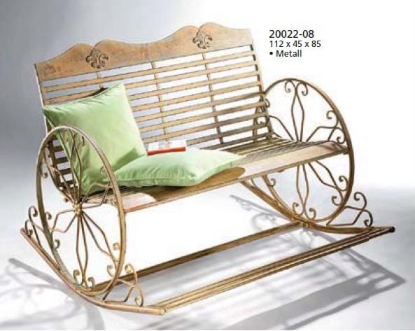 schaukelbank 2 sitzer aus metall garten wintergarten ebay. Black Bedroom Furniture Sets. Home Design Ideas