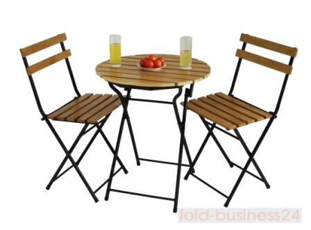 bistro tisch mit 2 st hlen garten set. Black Bedroom Furniture Sets. Home Design Ideas