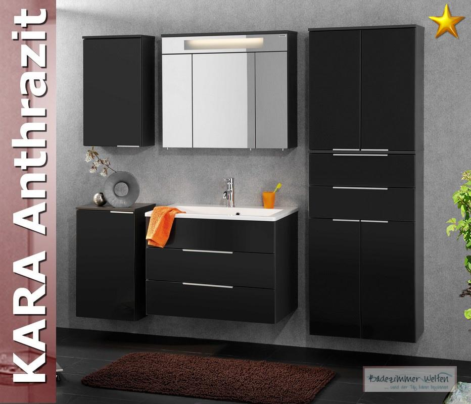 fackelmann badm bel kara anthrazit set 6 2 rgl glasbecken ebay. Black Bedroom Furniture Sets. Home Design Ideas