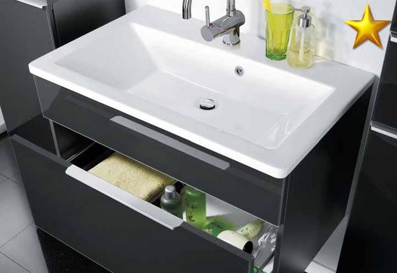 fackelmann salle de bains kara bianco set 3 2 g gussbecken ebay. Black Bedroom Furniture Sets. Home Design Ideas