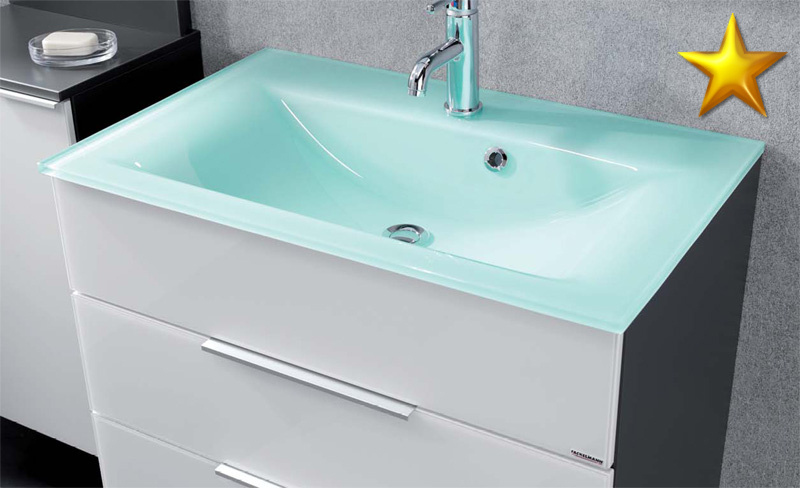 fackelmann badm bel kara anthrazit set 6 2 rgl glasbecken ebay. Black Bedroom Furniture Sets. Home Design Ideas